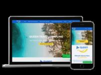 Queentravellampung.com mockup